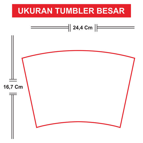 Tumbler Tinggi 19 cm