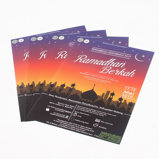 Brosur / Leaflet A5 Art Paper 150gsm